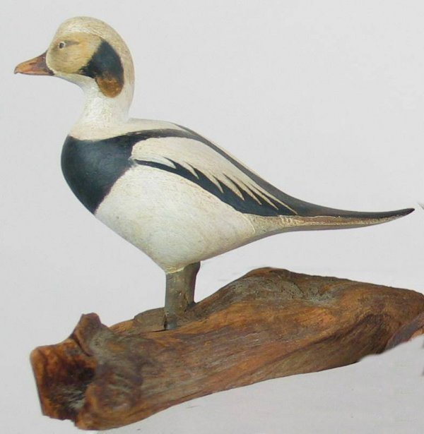 440: Very rare early miniature oldsquaw drake by Harold