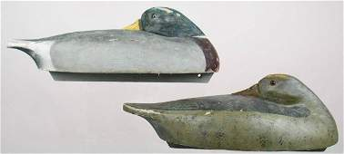 569 Rare pair of sleeping Wildfowler Factory mallard d