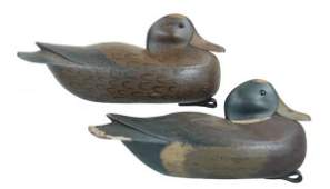 604 Pair of Heisler Mallard Decoys