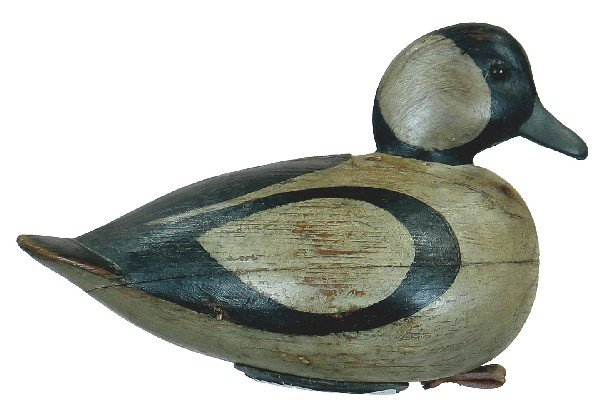 530: Outstanding two-piece bufflehead drake with inlet