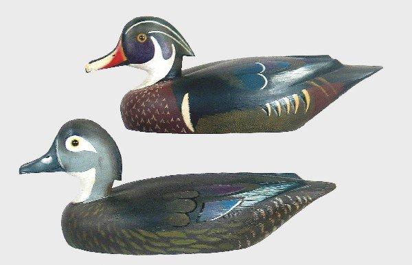 868: Immaculate pair of wood ducks by David W. Nichol o