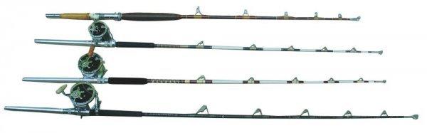 528J: Lot of Penn Reels and custom rods