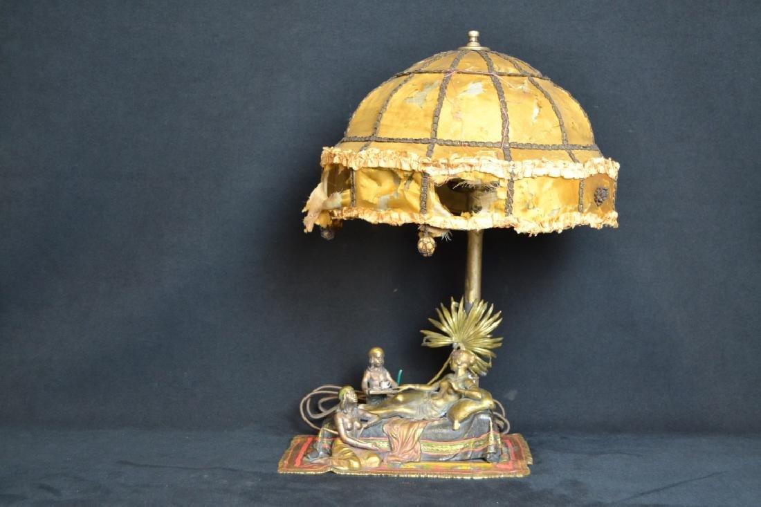 AUSTRIAN COLD PAINTED BERGMANN STYLE LAMP