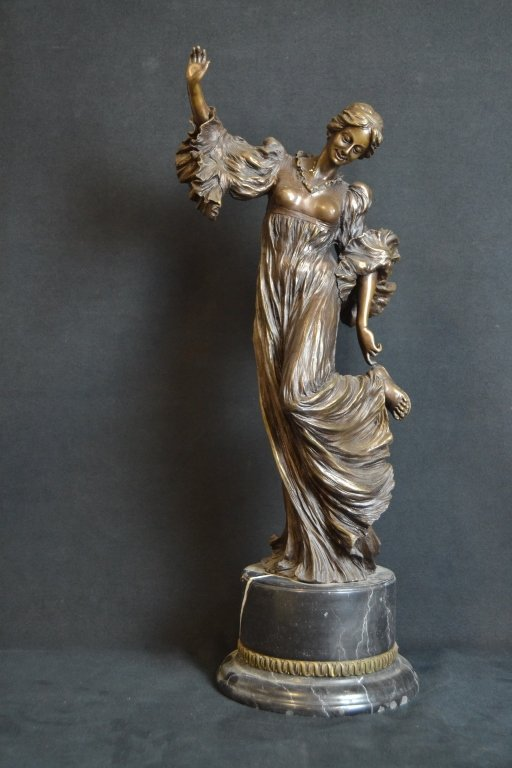 LADY DANCING BRONZE STATUE