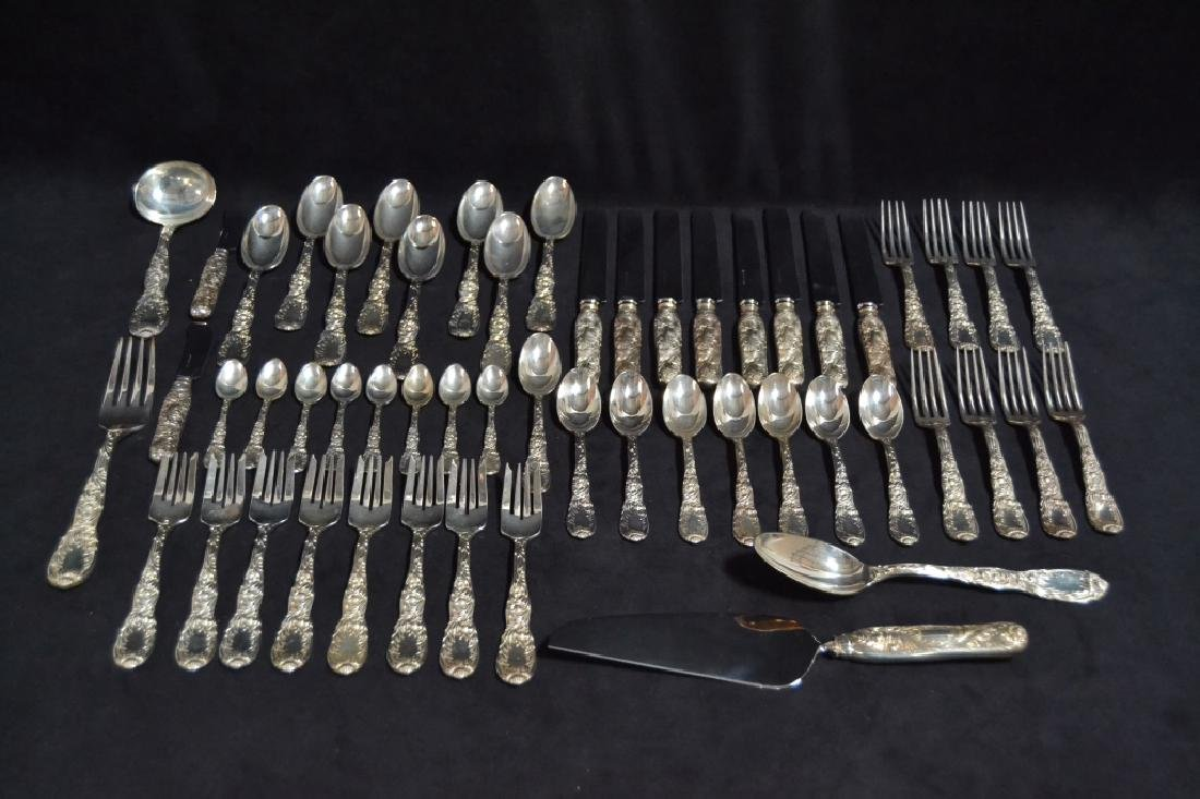 56 PCS CHRYSANTHEMUM TIFFANY STERLING FLATWARE SET