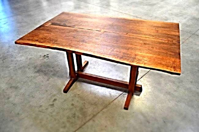 """GEORGE NAKASHIMA """"FRENCHMAN'S COVE"""" DINING TABLE"""