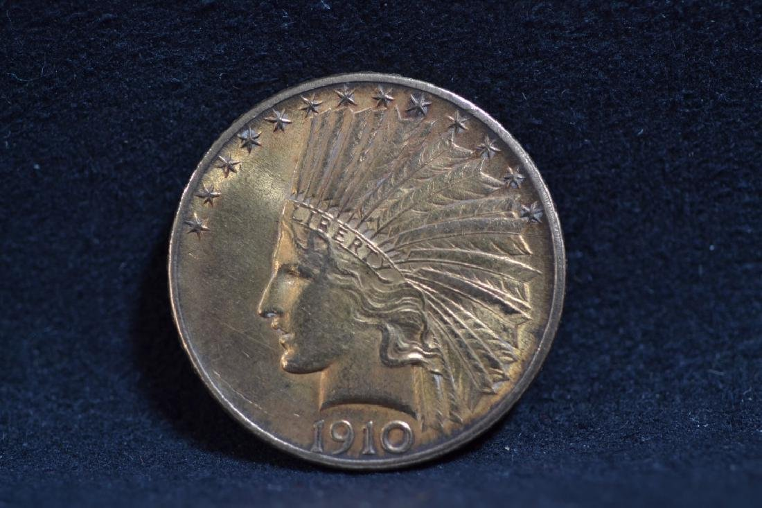 1910 U.S. $10 GOLD PIECE WITH INDIAN HEAD