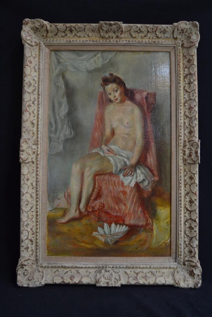 PAUL CLEMENS NUDE OF YOUNG WOMAN O/B