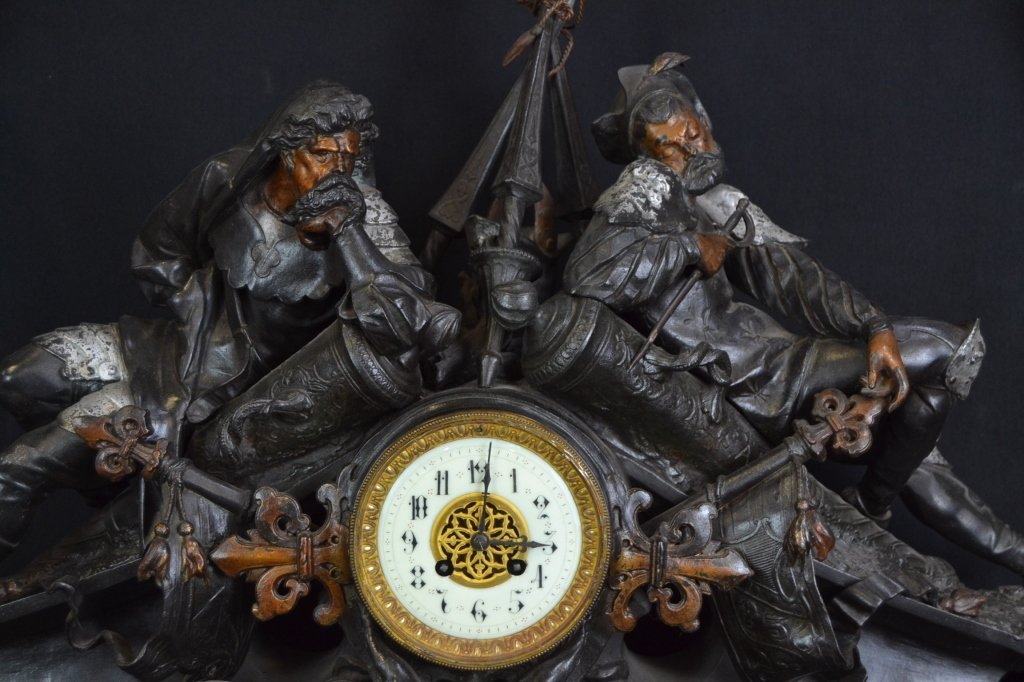 3 PC. FRENCH JAPY FRERES A. POITEVIN CLOCK SET - 5