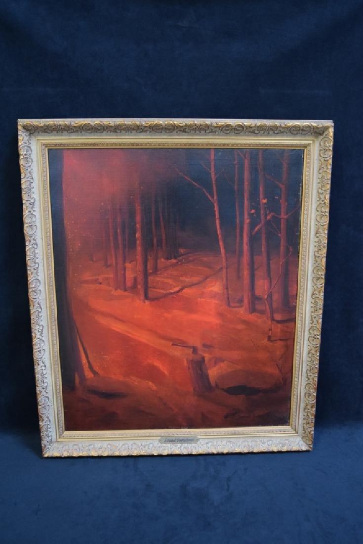 SVEN SVEDSEN O/C FIRE LIT FOREST SCENE