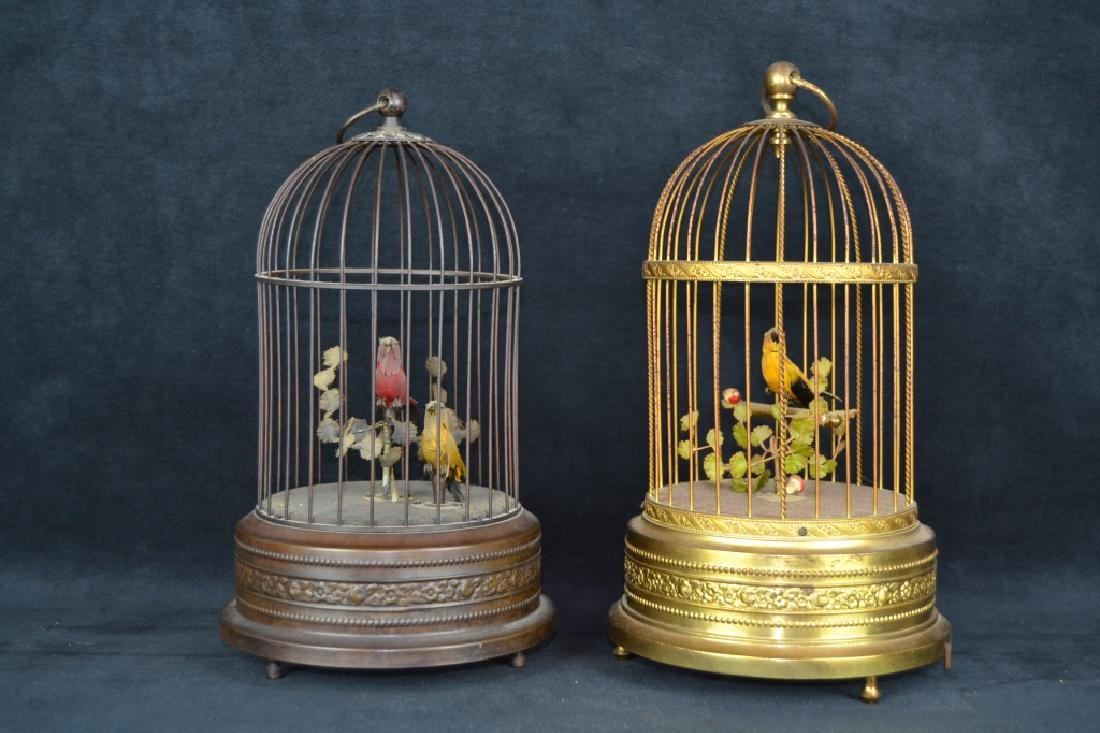 2 GERMAN MUSICAL BIRDCAGES