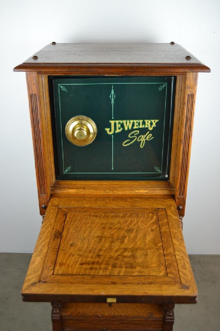 1900'S AMERICAN OAK CABINET WITH BUILT IN SAFE - 2