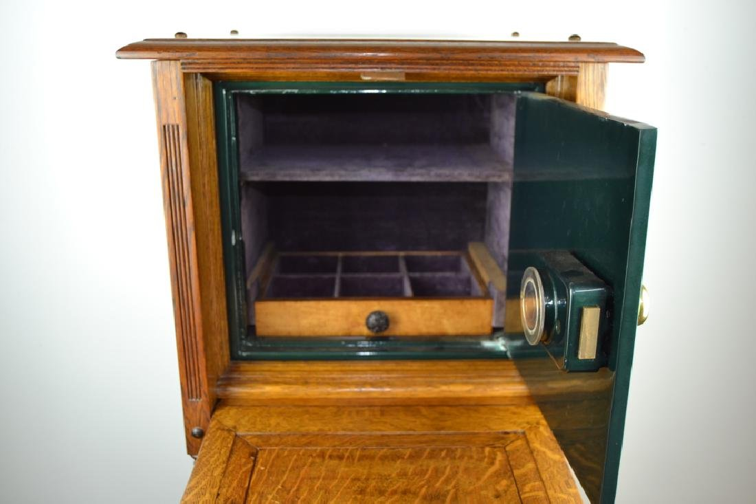 1900'S AMERICAN OAK CABINET WITH BUILT IN SAFE - 3