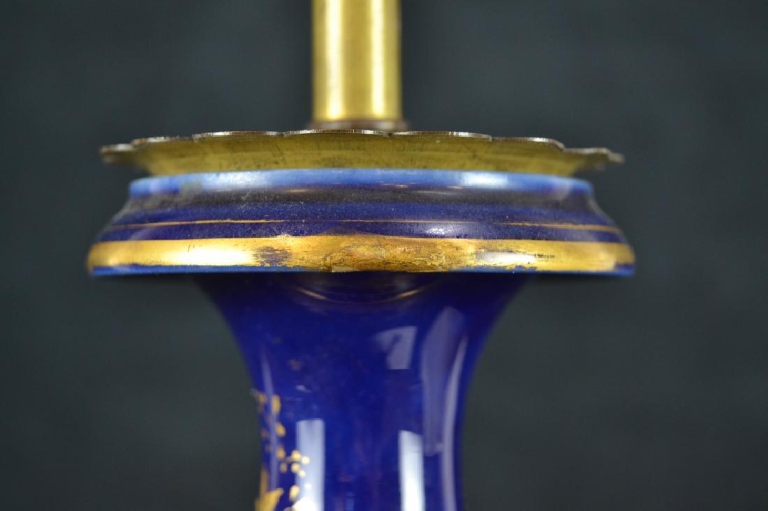 ANTIQUE SEVRES STYLE PORCELAIN TABLE LAMP - 5