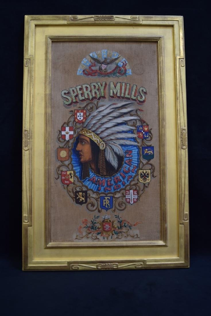 SPERRY MILLS FLOUR HAND PAINTED ADVERTISEMENT