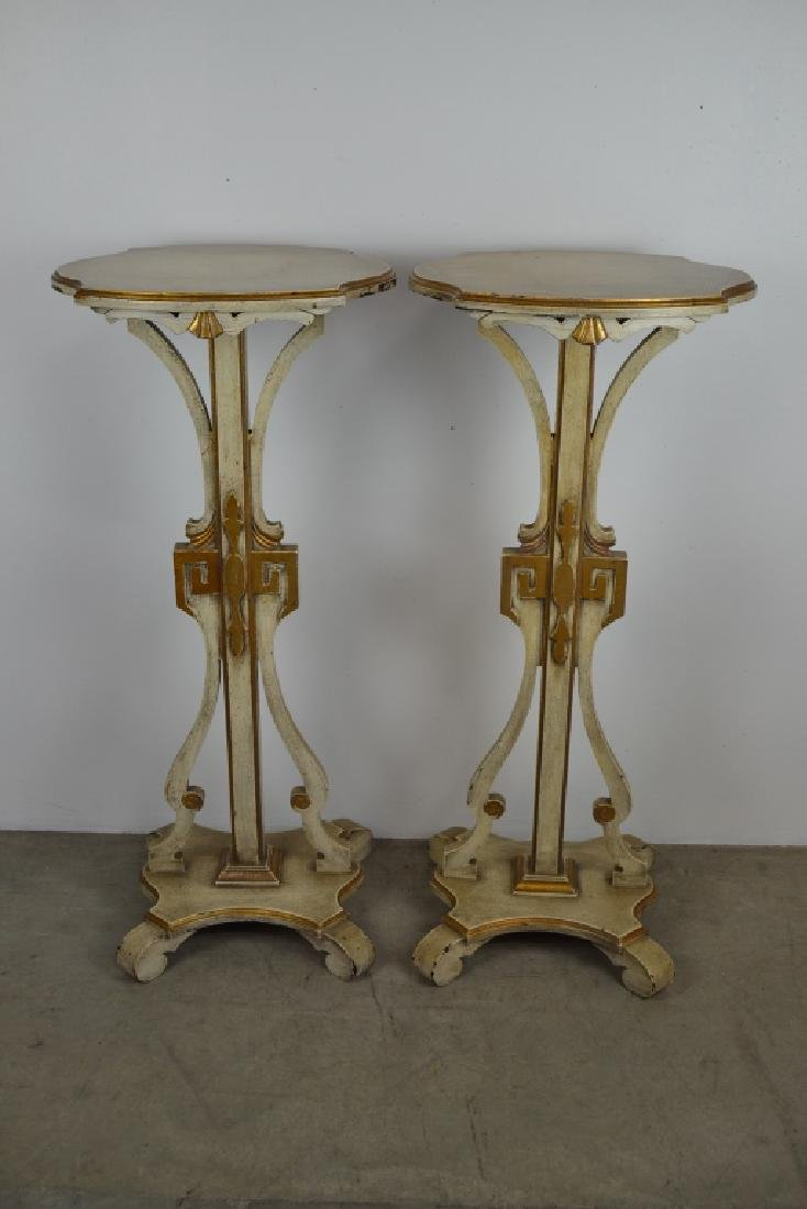 PAIR ITALIAN STYLE PAINTED FERNSTANDS