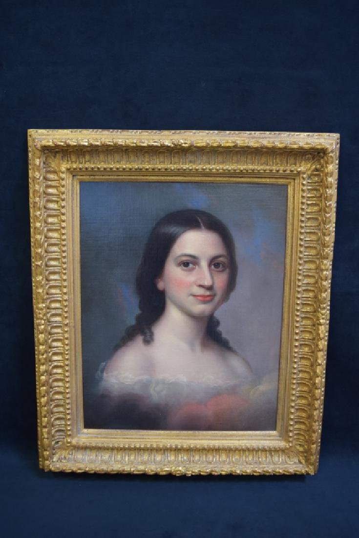 UNSIGNED 19TH CENTURY PORTRAIT OF GIRL