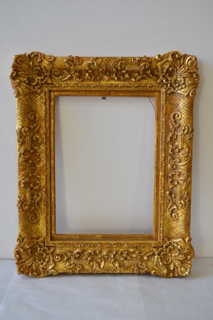 PAIR RICHARD TOBEY GOLD GILT PICTURE FRAMES - 2