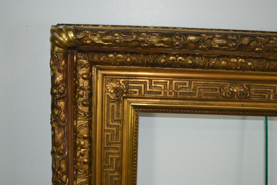 LARGE VICTORIAN CARVED WOOD & GESSO PICTURE FRAME - 2