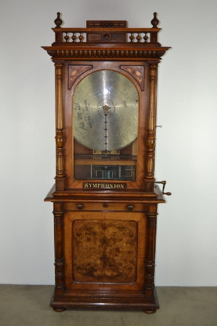 SYMPHONION COIN OP. UPRIGHT DISK (DISC) MUSIC BOX
