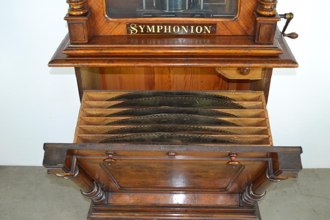 SYMPHONION COIN OP. UPRIGHT DISK (DISC) MUSIC BOX - 2