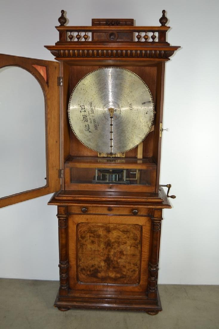 SYMPHONION COIN OP. UPRIGHT DISK (DISC) MUSIC BOX - 3