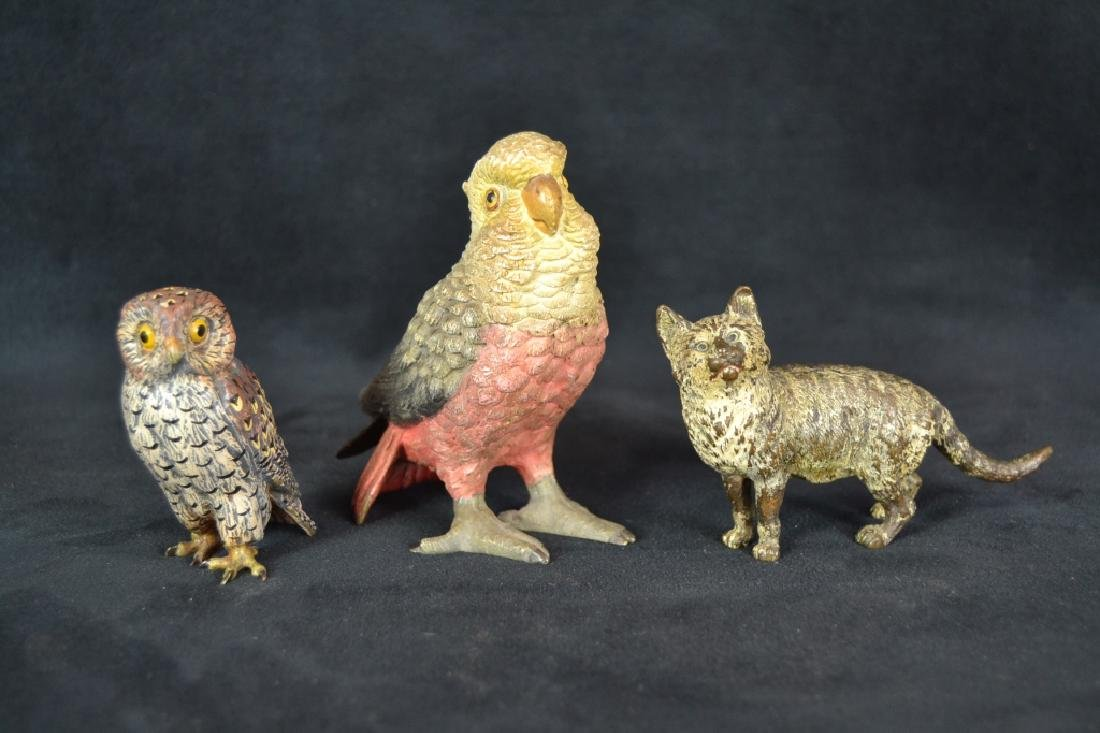 3 AUSTRIAN COLD PAINTED ANIMAL BRONZES