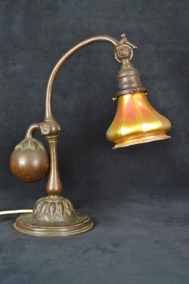 TIFFANY STUDIOS NEW YORK #415 COUNTER BALANCE LAMP