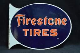FIRESTONE TIRES PORCELAIN FLANGE SIGN