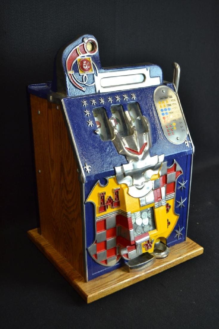 MILLS 5 CENT CASTLE FRONT SLOT MACHINE - 2