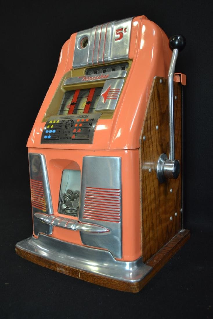 MILLS 5 CENT HI-TOP HORSESHOE JACKPOT SLOT MACHINE - 3