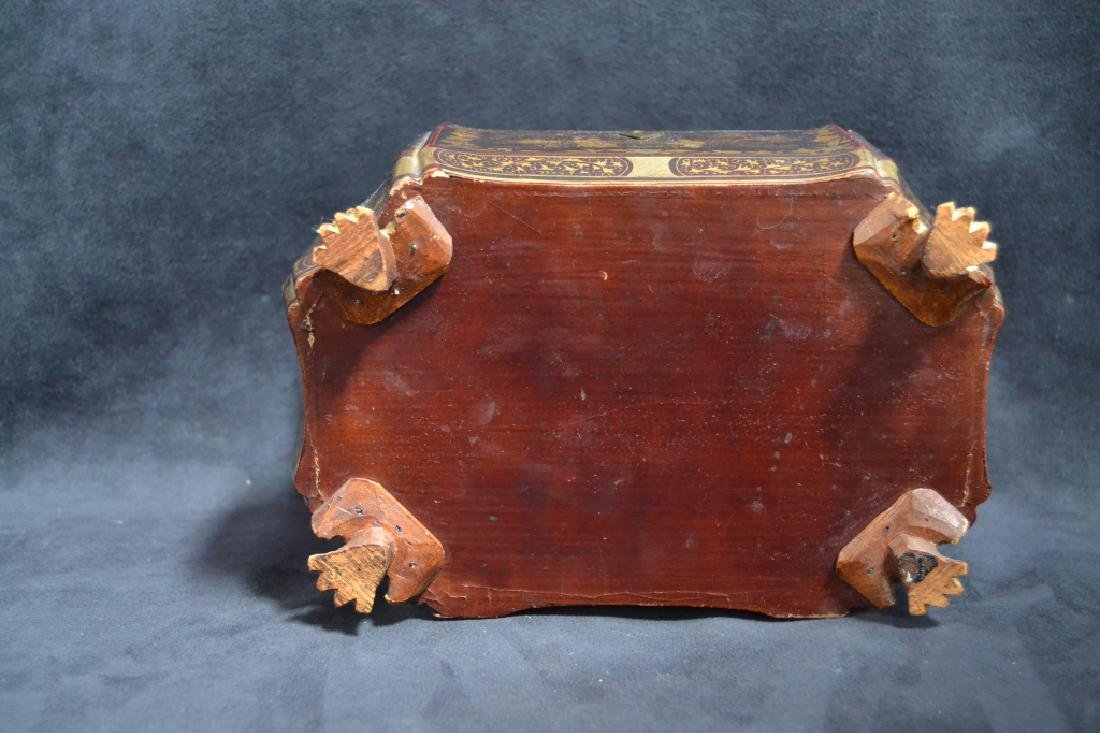 19TH CENTURY ORIENTAL LACQUERED TEA CADDY - 5