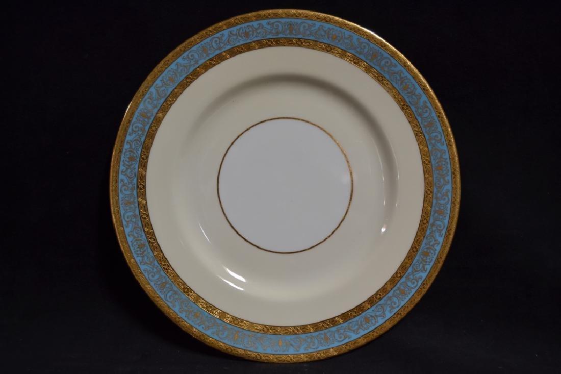 SET OF 12 MINTON PLATES W/ GOLD & BLUE RIMS - 3