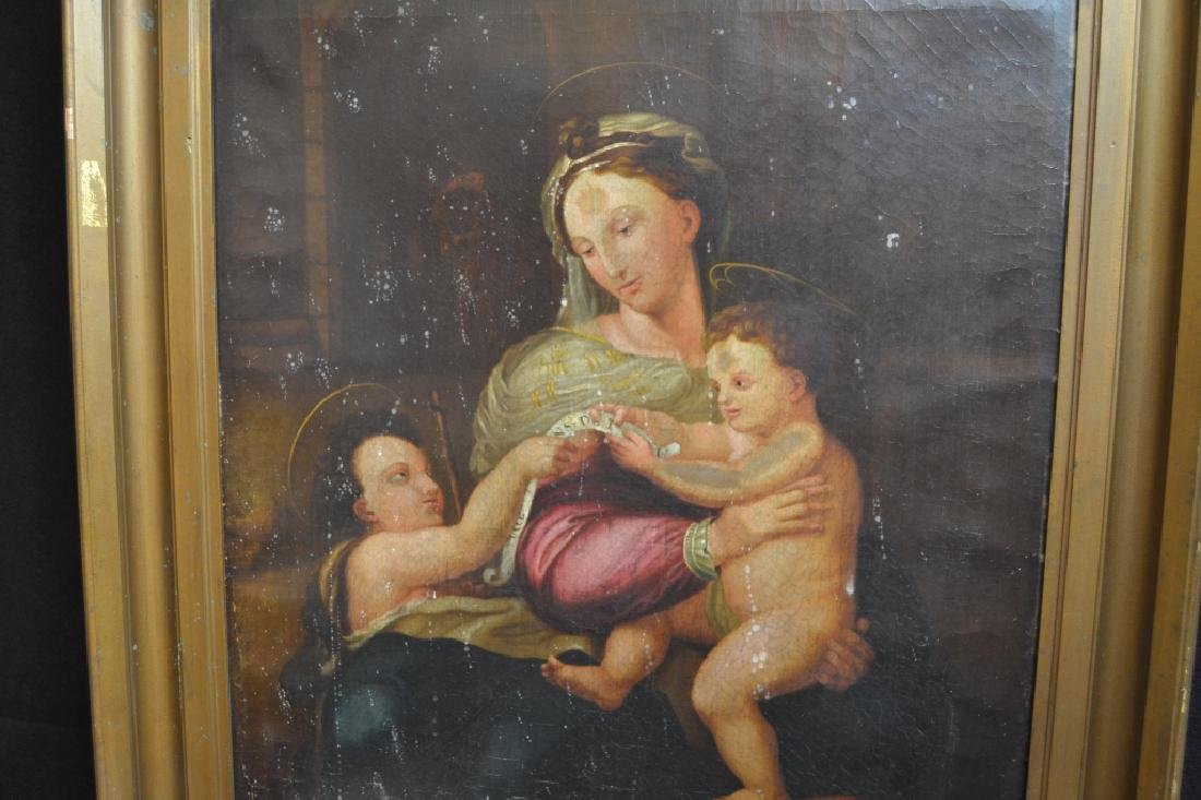 19TH CENTURY MADONNA WITH CHILD O/C - 2