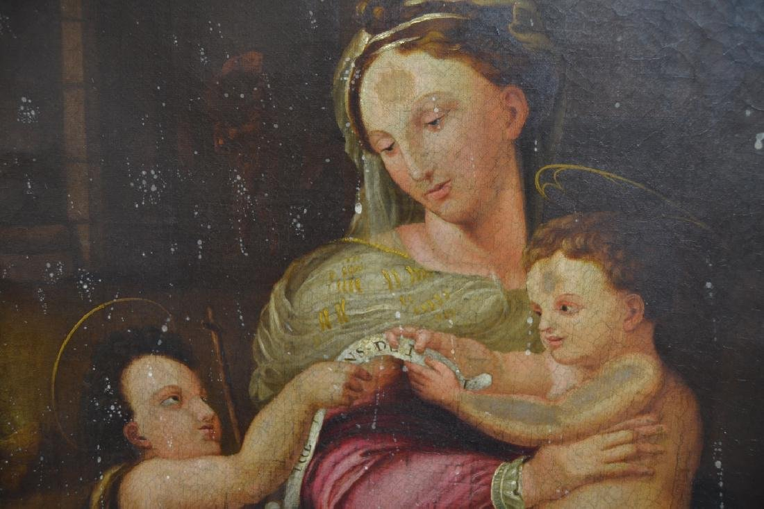 19TH CENTURY MADONNA WITH CHILD O/C - 9