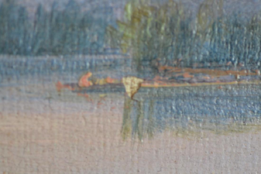 WILLIAM H. TITCOMB MOUNTAIN LAKE SCENE PAINTING - 4