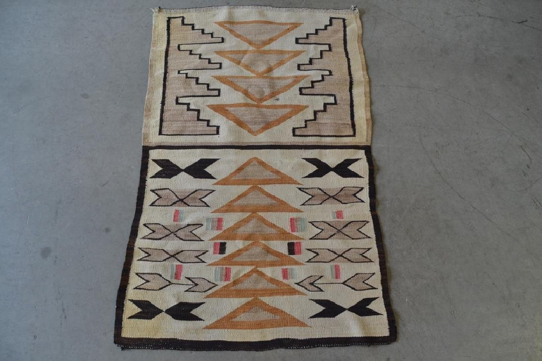 NAVAJO NATIVE AMERICAN RUG OR BLANKET - 2