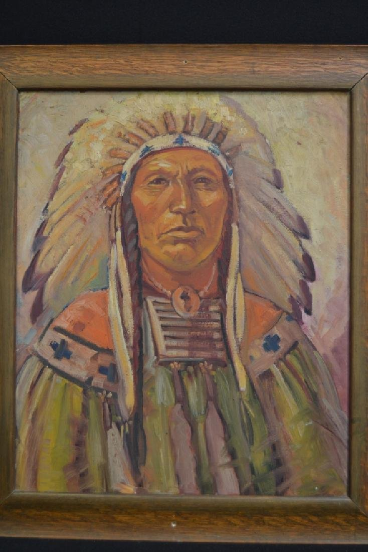 MABLE & OWEN HOLMWOOD INDIAN CHIEF PORTRAIT - 2