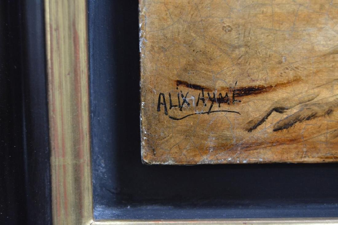 ALIX AYME' LACQUER ON WOOD PANEL TULIP PAINTING - 3