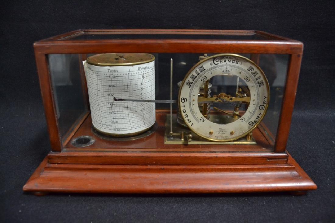 CIRCA 1910 ENGLISH RECORDING BAROMETER