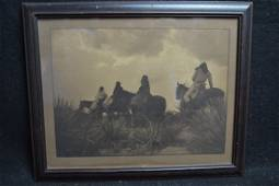 """EDWARD CURTIS """"BEFORE THE STORM"""" PHOTOGRAVURE"""