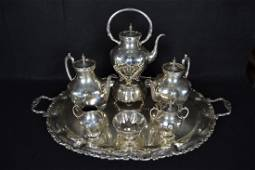 7 PC. MEXICAN STERLING TEA SERVICE