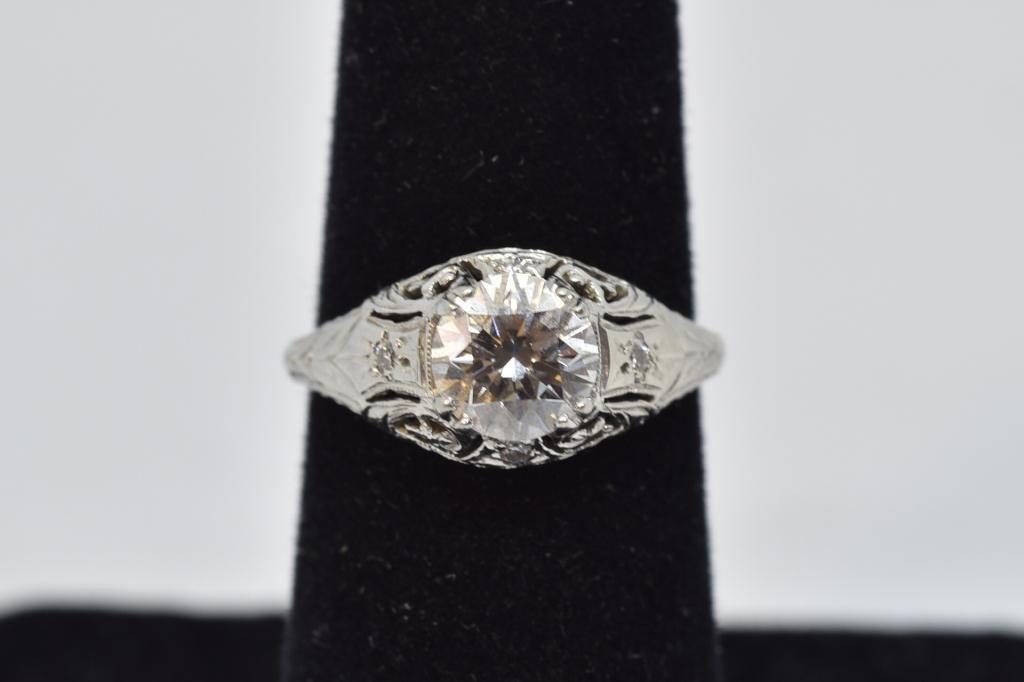 ART DECO 1 CT. DIAMOND & PLATINUM LADY'S RING
