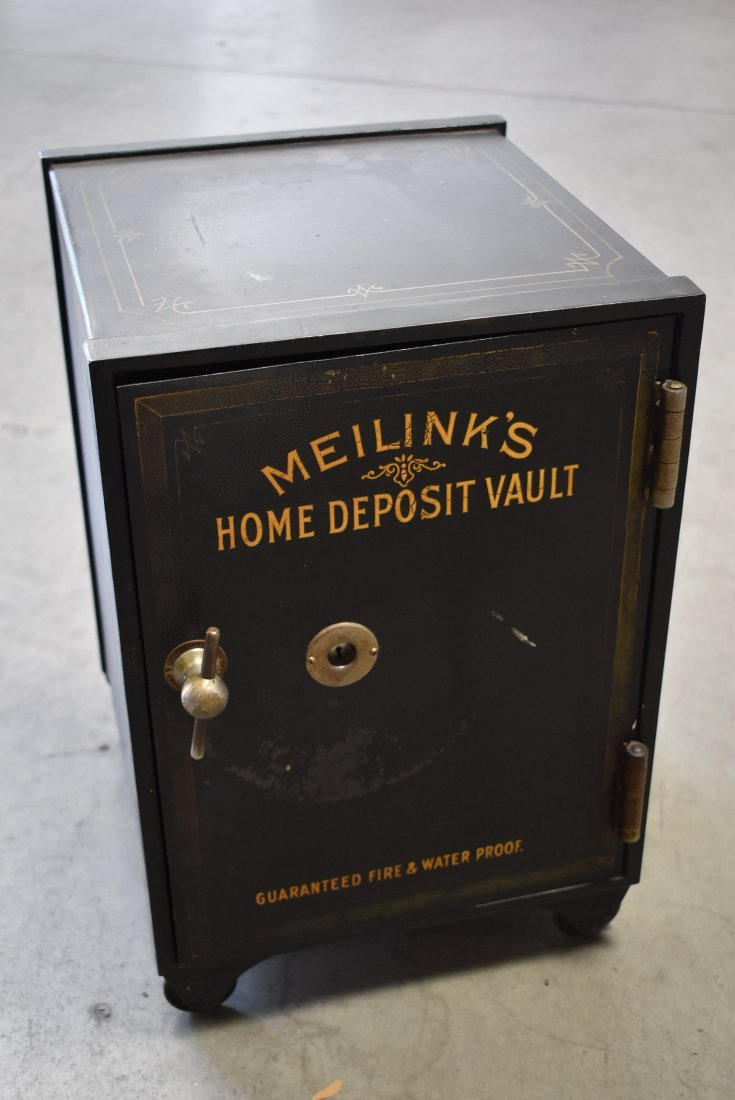 ANTIQUE MEILINK'S HOME DEPOSIT VAULT SAFE