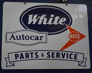 White Autocar REO Parts & Service Sign (TAC)