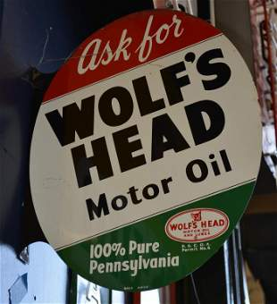 Ask for Wolf's Head Motor Oil Sign (TAC)