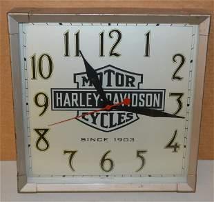 Harley Davidson Bar & Shield Clock