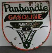 Panhandle Gasoline wlogo Porcelain Sign TAC