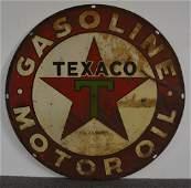 Rare Texaco (black-T) Gasoline Motor Oil Sign