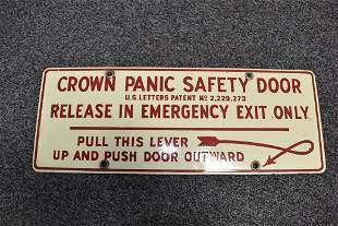 EMERGENCY EXIT PANIC DOOR SIGN